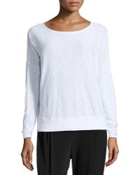 Vince Long-Sleeve Slub-Knit Sweater - Lyst