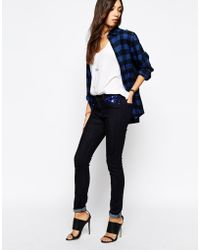 Lee Jeans Scarlett Blue Rinse Skinny Jeans With Sequin Pocket - Lyst