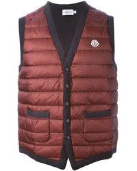 Moncler Padded Panel Waistcoat - Lyst