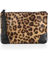 Rag & Bone Leopard-Print Calf Hair Wristlet - Lyst