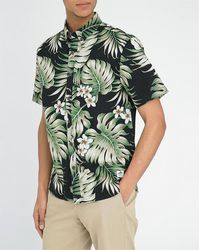 Penfield Leather Bridge Tropical Print Shirt - Lyst
