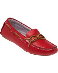 Johnston & Murphy | Maggie Camp Moc Cardinal Red Glove | Lyst