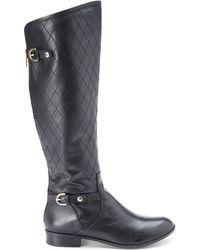 Anne Klein Black Klye Riding Boots - Lyst