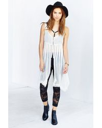 Staring At Stars - Embroidered Mesh Leggings - Lyst