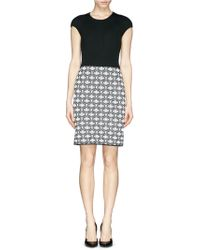 St. John Ogee Rib Knit Dress - Lyst