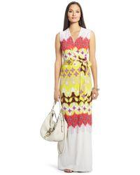Diane von Furstenberg New Yahzi Long Maxi Silk Jersey Wrap Dress - Lyst