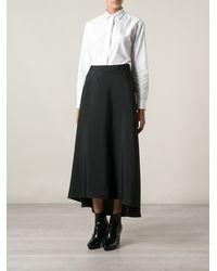 Costume National Asymmetric Hem Skirt - Lyst