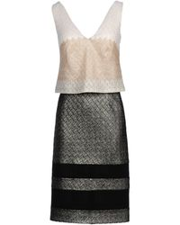 Missoni Silver Sheer Dress - Lyst
