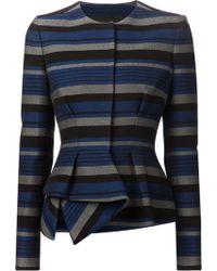 Proenza Schouler Striped Peplum Dress - Lyst