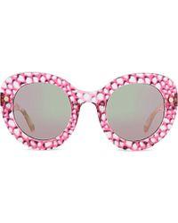 Matthew Williamson Oversized Curved Cateye Sunglasses - Lyst