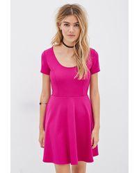 Kensie Hooded Long Sleeve A Line Sweater Dress In Purple