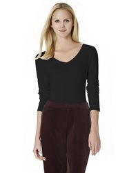 Jones New York Longsleeved Vneck Top - Lyst