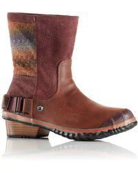 Sorel Slimshortie Waterproof Leather Boots - Lyst