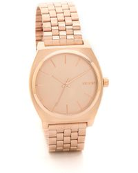 Nixon Time Teller Watch - Rose Gold - Lyst