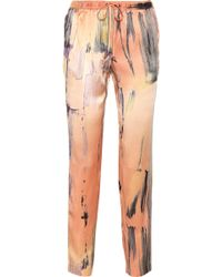 Elizabeth And James Gessler Printed Silksatin Tapered Pants - Lyst