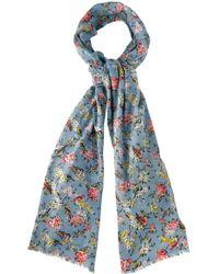 Cath Kidston - Blossom Birds Print Scarf - Lyst