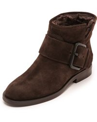 Sigerson Morrison Suna Buckle Booties  Lavagna - Lyst