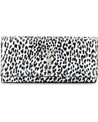 Saint Laurent Classic Monogramme Printed Leather Clutch - Lyst