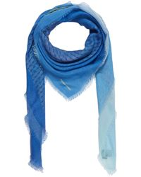 Pierre Hardy - Blue Cube Cashmere And Silk-blend Scarf - Lyst