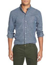 Haspel - 'flannelized' Trim Fit Cotton Sport Shirt - Lyst