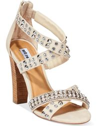 Naughty Monkey Not Rated By Laguna Heeled Strappy Sandals - Lyst