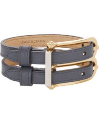 Balenciaga Leather B Bracelet - Lyst