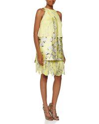 J. Mendel Abstract Mini Shift Dress - Lyst
