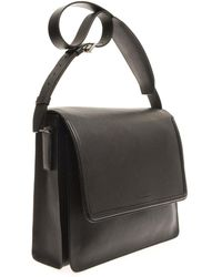 Alexander McQueen Black Leather Messenger - Lyst