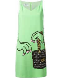 Moschino Cheap & Chic Handbag Print Shift Dress - Lyst