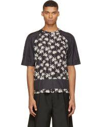MSGM Black Palm Tree Print T_Shirt - Lyst