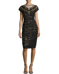 Carolina Herrera Embellished Tweed Evening Dress - Lyst