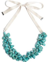 By Malene Birger Cillo Turquoise Necklace - Lyst