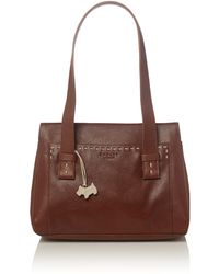 Radley Villiers Med Tan Leather Ztop Tote Handbag - Lyst