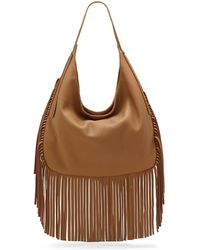 Vince Camuto Shea Leather Fringe Hobo Bag - Lyst