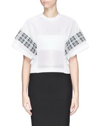 Toga Archives Check Band Kimono Sleeve Top - Lyst