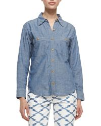Etoile Isabel Marant Waller Denim Buttondown Shirt - Lyst