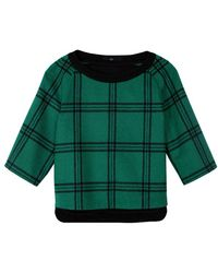 Tibi Evergreen Plaid Top - Lyst