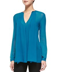 Nanette Lepore Secret Mission Silk Top - Lyst