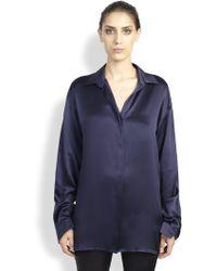 Haider Ackermann Dali Long Silk Shirt - Lyst