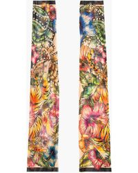 DSquared2 Pink and Orange Tiger and Hibiscus Tattoo Sleeves - Lyst