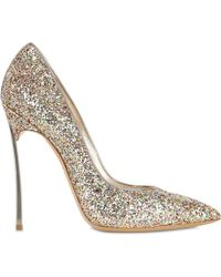 Casadei 120Mm Glittered Blade Pumps - Lyst