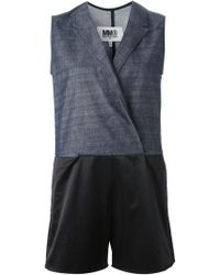 Mm6 By Maison Martin Margiela Sleeveless Combo Romper - Lyst