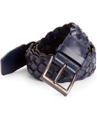 Burberry Woven Leather Belt - Lyst