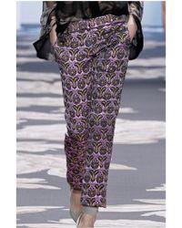Vera Wang | Metallized Trousers | Lyst