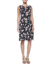 Tory Burch Liana Floral Print Dress - Lyst
