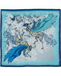 Emma J Shipley - Blue Pegasus Silk Scarf - Lyst