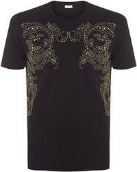 Versace Studded T-shirt - Lyst