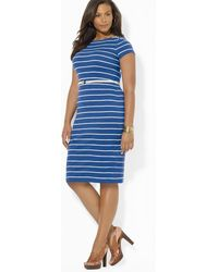 Ralph Lauren Lauren Plus Elisha Boatneck Dress - Lyst