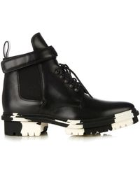 Balenciaga Unit Leather Biker Ankle Boot - Lyst
