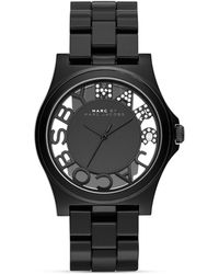Marc By Marc Jacobs Rivera Skeleton Black Watch, 41Mm - Lyst